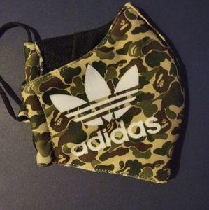 Adidas camouflage face mask